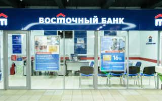 Процентные ставки потребительских кредитов в Восточном банке