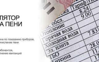 Расчет пеней по ставке рефинансирования онлайн-калькулятором