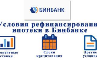 Бинбанк: рефинансирование кредитов других банков